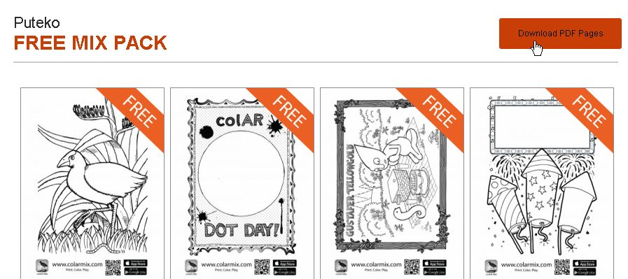 Colar mix wit for Colar mix coloring pages